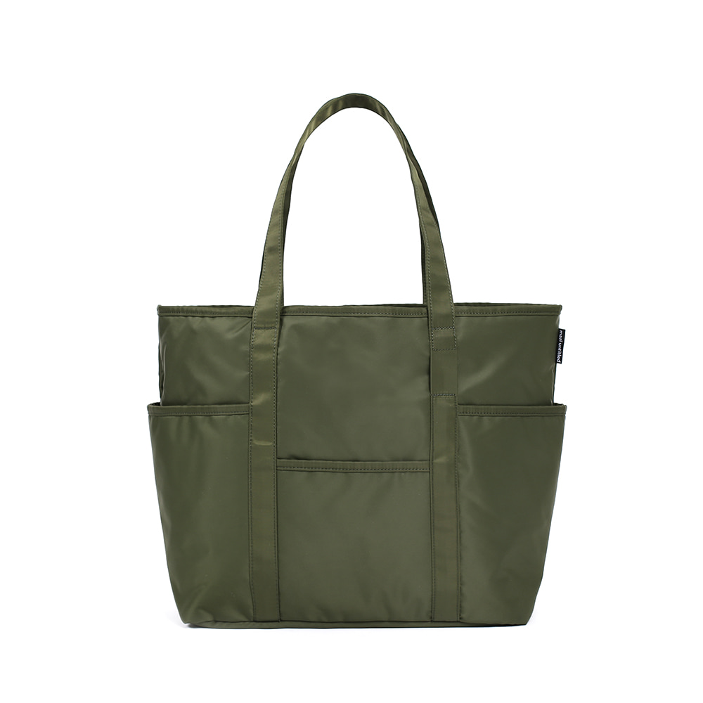 MAZI UNTITLEDNylon Cafe Tote(Khaki)10% Off