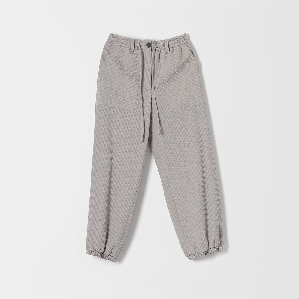 DONA DONAEasy Quilted Jogger Pants(Gray)30% OFF