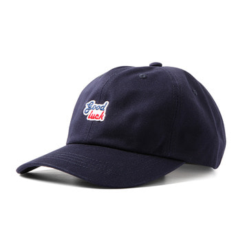 GOOD NIGHT & GOOD LUCK2 Colors Logo Cap(Navy)