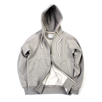 YOU NEED GARMENTSZip Sweat Parka(Grey)