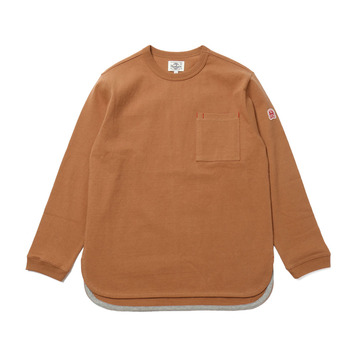 HORLISUNEmery Long Sleeve Pocket T(Camel 803)