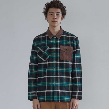 HORLISUNFairview Flannel Check Shirts(Green/Black)