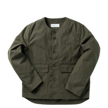 ROUGH SIDECollarless Jacket(Olive)