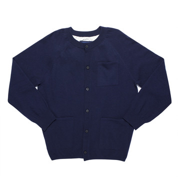 DOCUMENTRound Cardigan(Blue)