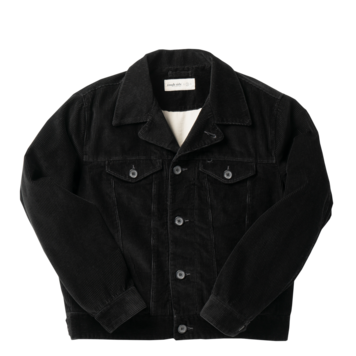 ROUGH SIDECorduroy Trucker  Jacket(Black)