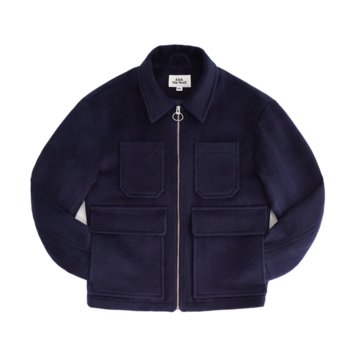 KICK THE BEATUnisex Wool Blouson(Navy)