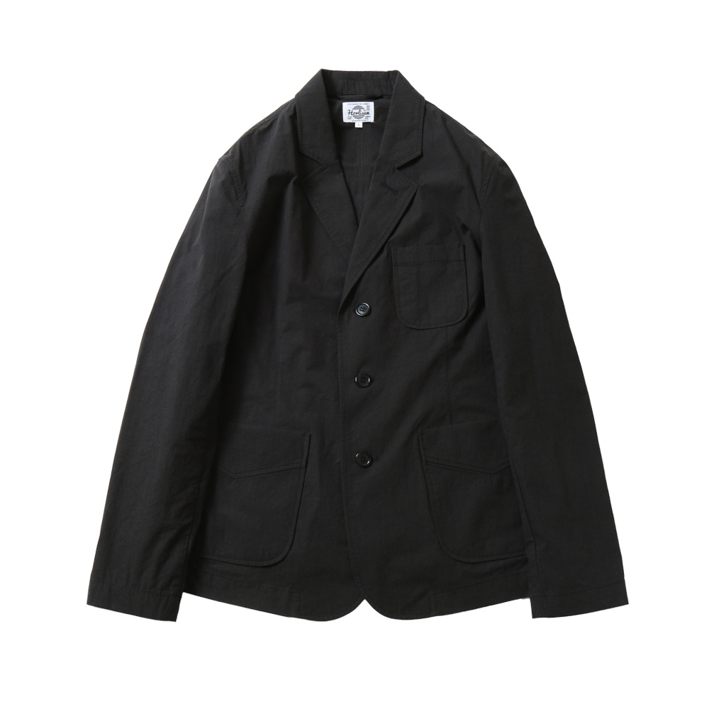HORLISUNAston 3 Pocket Typewriter Jacket(Black Navy)