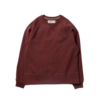 ROUGH SIDEHide-rib Sweat(Burgundy)
