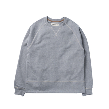ROUGH SIDEHide-rib Sweat(Grey)