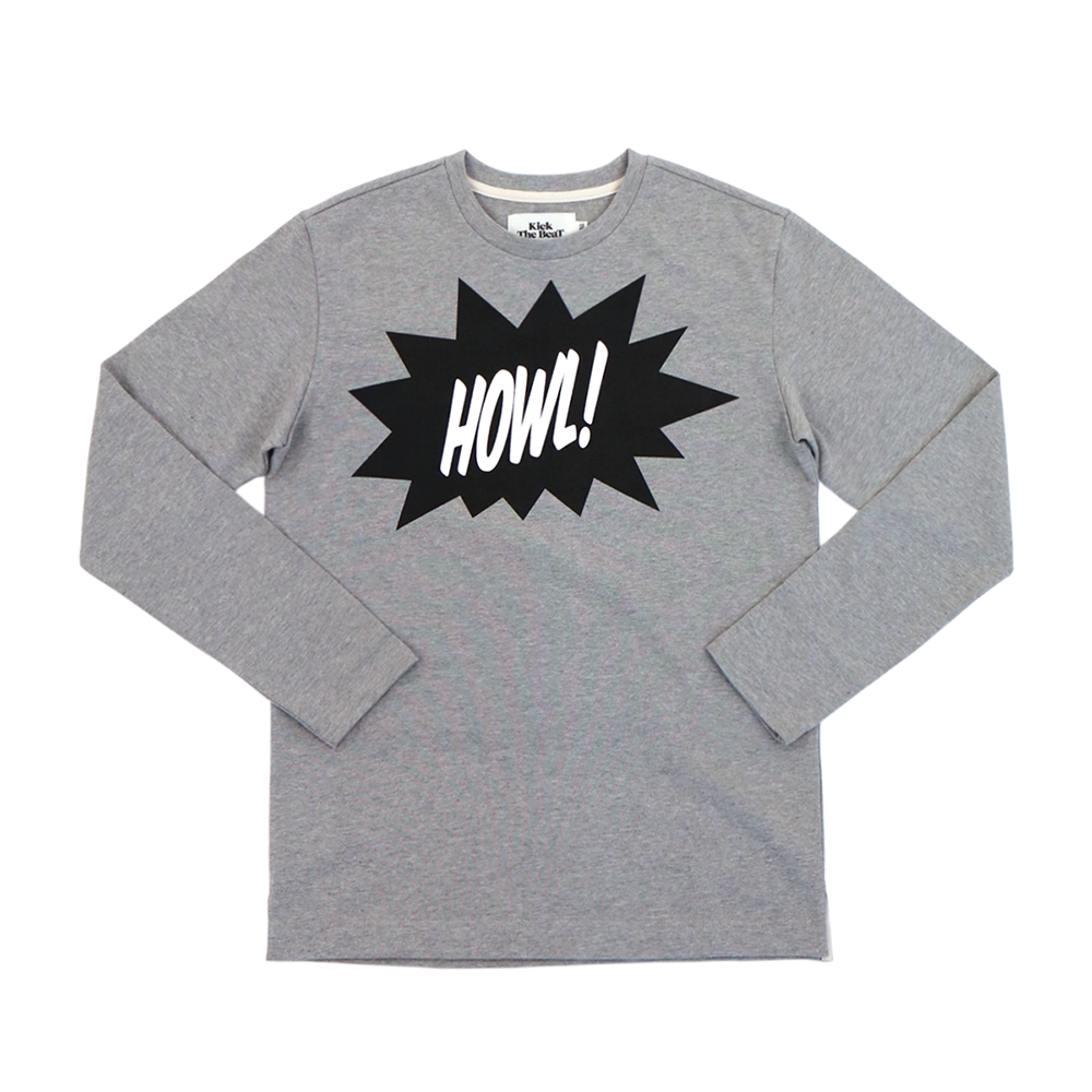 KICK THE BEATWoman's Howl Tee(Grey)
