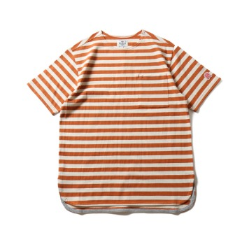 HORLISUNUnion Short Sleeve Pocket T(Orange/Beige)