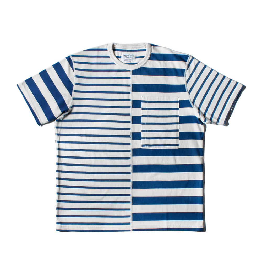 NAMER CLOTHINGHalf Stripes T-shirts(Blue)