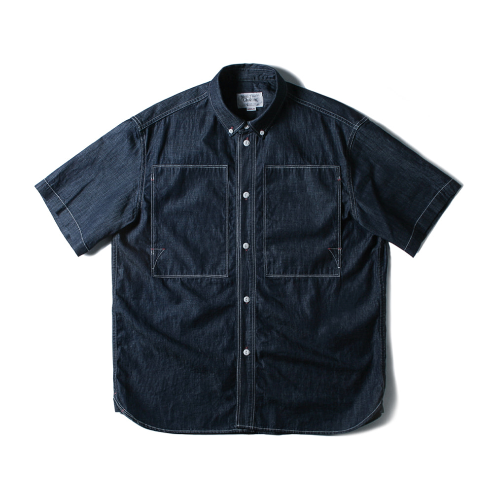 NAMER CLOTHINGBluer Utility 1_2 Shirts(Navy)