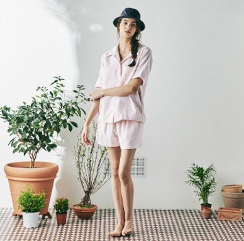 MONOPISPA(W) Marilyn Short Sleeve PJ Set(Terry Pink)