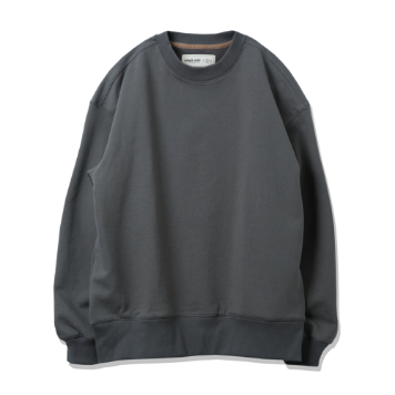 ROUGH SIDEOversized Sweat Shirts (Charcoal)