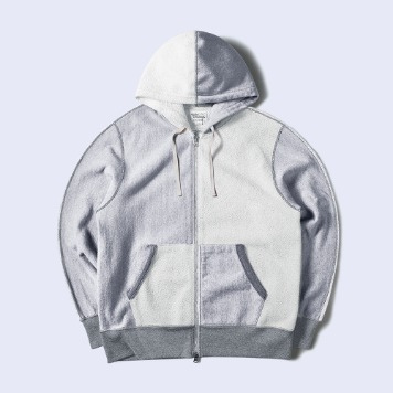 NAMER CLOTHINGHalf Zip-Up Hood(Grey)