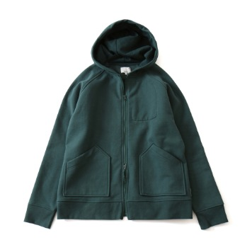HORLISUNWilow Zipup Pocket Hood Jacket(Deep Green)10% Off