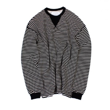 YOU NEED GARMENTSFlat Seam Stripe Shirts(Black)30% Off