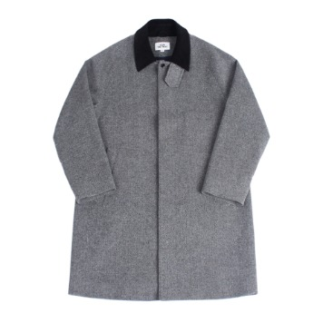 KICK THE BEATUnisex Wool Mac Coat(Grey Herringbone)30% Of