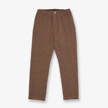UNIVERSAL OVERALLWomen's Check Tapered Pants(Brown)