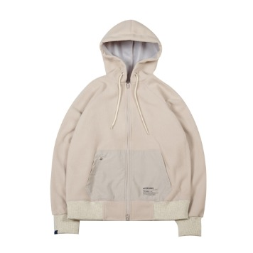 TOEFleece Hood Zip Up(Ivory)