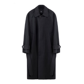 KEI CURRENTG Balmacaan Coat(Black)30% Off