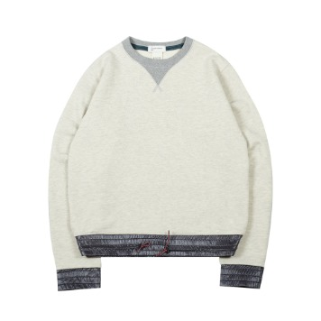 TOEColor Block Sweat Shirt(Heather)