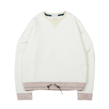 TOEColor Block Sweat Shirt(Ivory)35% Off