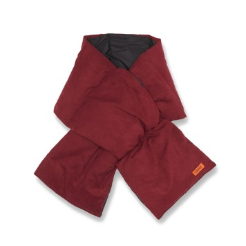 UNIVERSAL OVERALLSuede Down Padding Scarf(Wine)30% Off