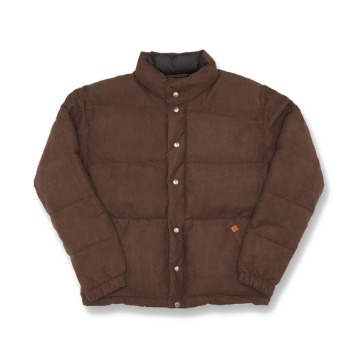 UNIVERSAL OVERALLSuede Short Down Jacket(Brown)30% Off