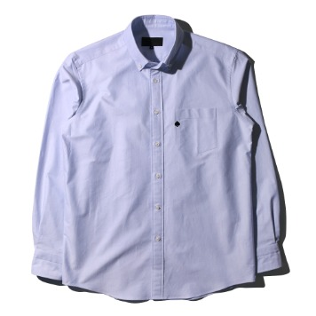 TEXT & SLNCSpade Embroidered Oxford Shirts(Blue)