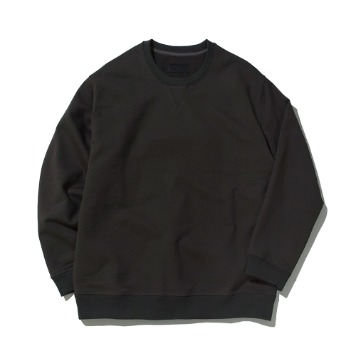 POTTERY x TEXT & SLNCHeavy Sweat ShirtHard & Compact French Terry Cotton Special Silk Processing(Charcoal)