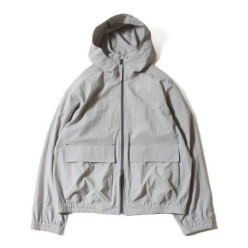 HORLISUNUnisex Breeze Nylon Hood Zip Up Jacket(Grey)