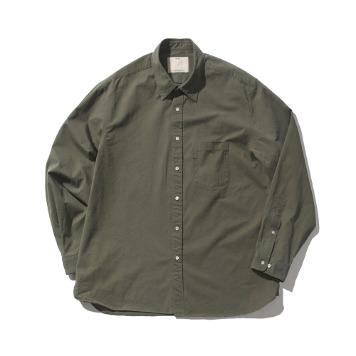 POTTERYComfort ShirtCotton High Density Twill Nodom Bio Wash(Olive Drab)