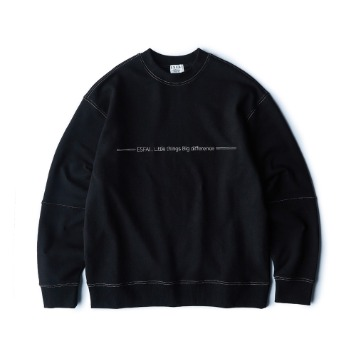 ESFAIColor Stitch Sweat Shirt (Black)