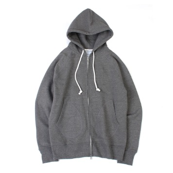 YOU NEED GARMENTSZip Sweat Parka(Heather Grey)