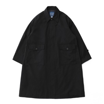 DAILY INNRecepton Uniform Oversized Balmacaan Coat(Black)