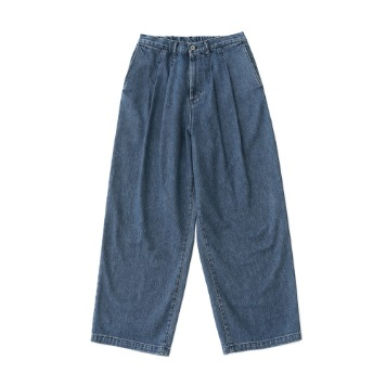 DAILY INNWest Coast Homie Wide Denim Pants(Used/Bloods)