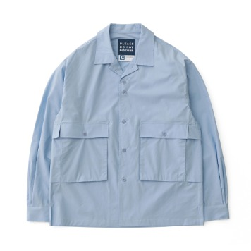 DAILY INNHousekeeper Oversized Shirts(Hawaiian Blue)