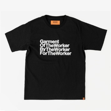 UNIVERSAL OVERALLUnisex The Worker  Graphic T(Black)