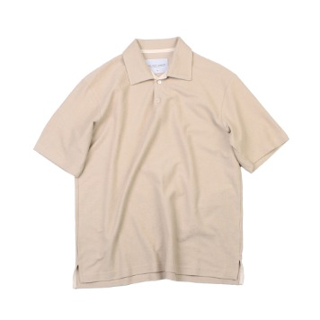 YOU NEED GARMENTSOversized French Terry Polo(Beige)