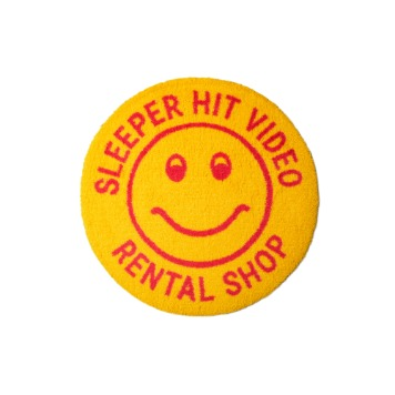 SLEEPER HIT VIDEOS.H.V. Smiley Rug(Yellow)