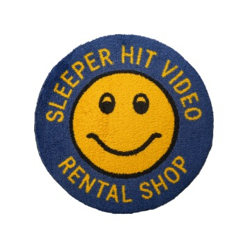 SLEEPER HIT VIDEO for MSK SHOP*RESTOCK*S.H.V. Smiley Rug(Navy)
