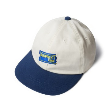 SLEEPER HIT VIDEOS.H.V. Smiley Cap(Navy/Ivory)