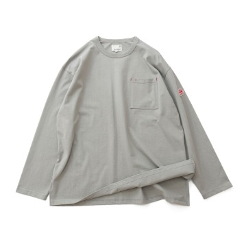 HORLISUNLawrence Overfit Long Sleeve Pocket T(Grey)10% Off