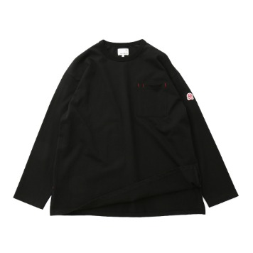 HORLISUNLawrence Overfit Long Sleeve Pocket T(Black)10% Off