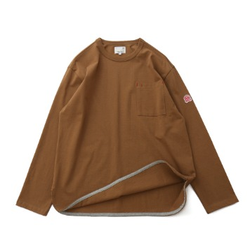 HORLISUNEmery Long Sleeve Pocket Seasonal T(Camel)10% Off