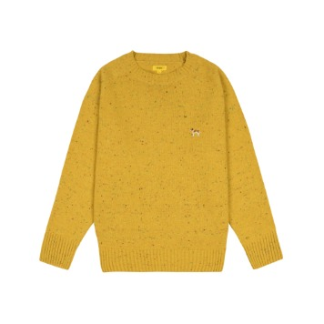 THE RESQ & COBarry Embroidery Sweater(Corn Yellow)