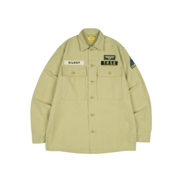 THE RESQ & COKilroy Patch Shirts(Desert Sand)
