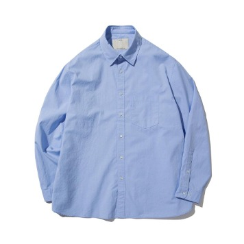 POTTERYComfort ShirtSupima Cotton 80/2 High Density Oxford Resilient Finish(Sax)